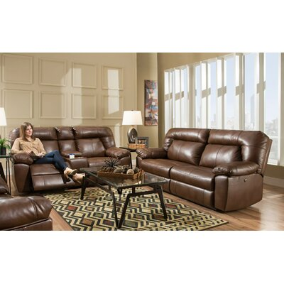 Gary 2 Piece Living Room Set Upholstery: Brown