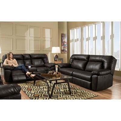 Gary 2 Piece Living Room Set Upholstery: Dark Brown