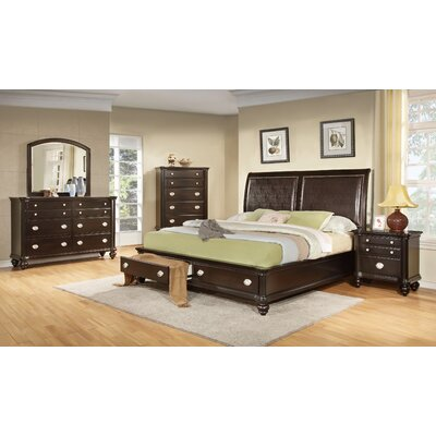 Darci Upholstered Storage Sleigh Bed Size: King