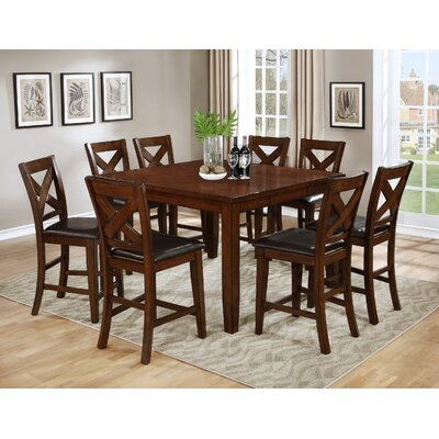 Jovany 9 Piece Pub Table Set