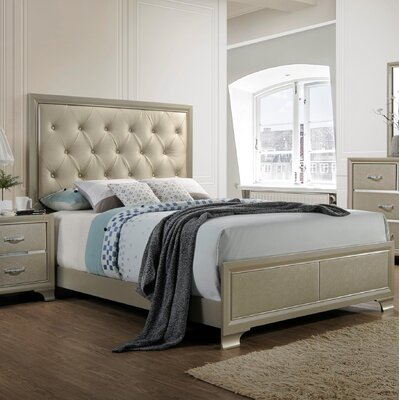 Braysham Tufted Upholstered Panel Bed Size: King