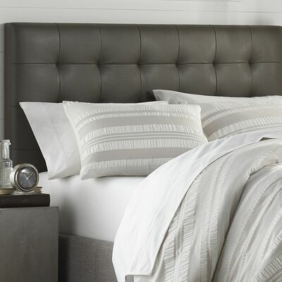 Dunning Upholstered Panel Headboard Upholstery: Gray, Size: King