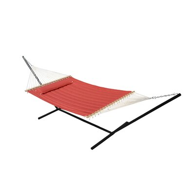 Monte Carlo Double Quilted Hammock Color: Bossa Nova Red