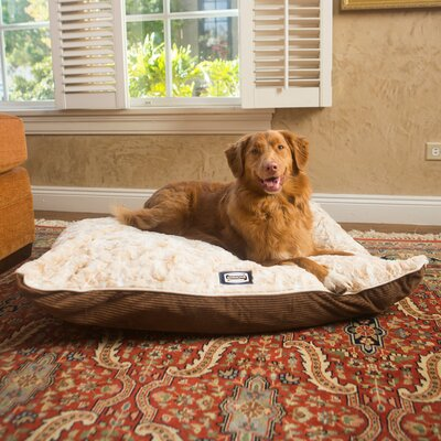 Simmons Snuggly Sleep Reversible Pillow Dog Bed Size: 7.5 H x 30 W x 40 D, Color: Toasted Coconut