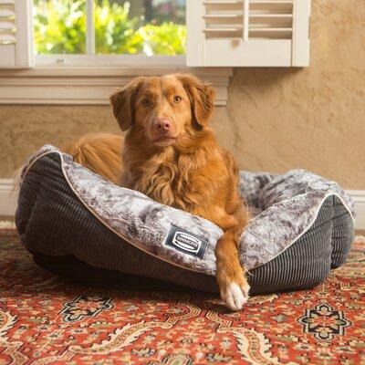 Simmons Regal Dream Plush Cuddler Pet Bed Size: 8 H x 20 W x 30 D, Color: Pewter