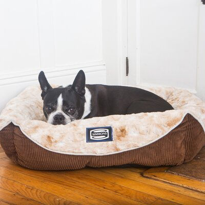 Simmons Regal Dream Plush Cuddler Pet Bed Size: 9 H x 30 W x 36 D, Color: Toasted Coconut