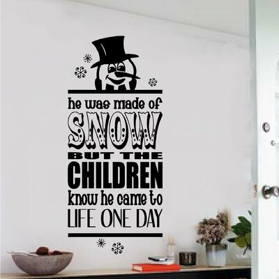 Frosty the Snowman Christmas Vinyl Wall Decal