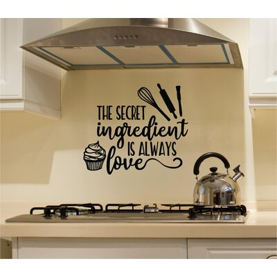 Colangelo 'The Secret Ingredient Is Always Love' Wall Decal WNSP1971 44250287