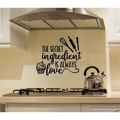 Colangelo 'The Secret Ingredient Is Always Love' Wall Decal WNSP1971 44250287