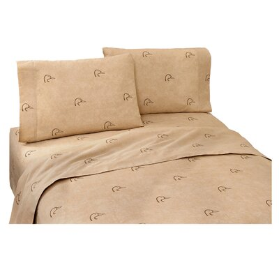 Plaid 180 Thread Count Sheet Set Size: Queen