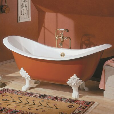 Regency 68 x 31 Soaking Bathtub Feet Finish: Brushed Nickel, Color: White Interior with Custom Exterior