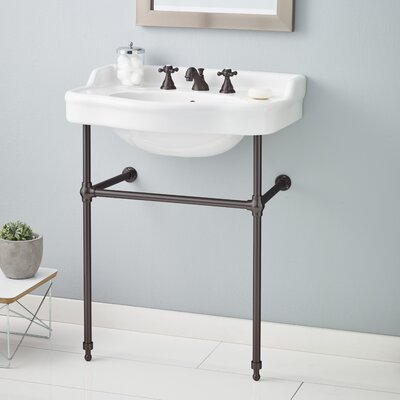 28 Console Bathroom Sink with Overflow Finish: Antique Bronze