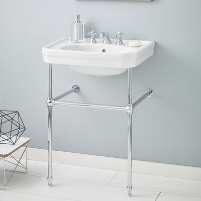 Mayfair 25 Console Bathroom Sink with Overflow Finish: Chrome