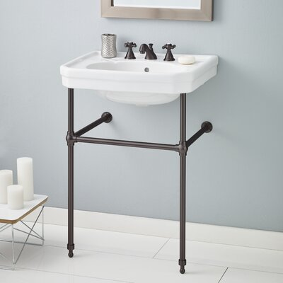 Mayfair Metal 25 Console Bathroom Sink with Overflow Finish: Antique Bronze