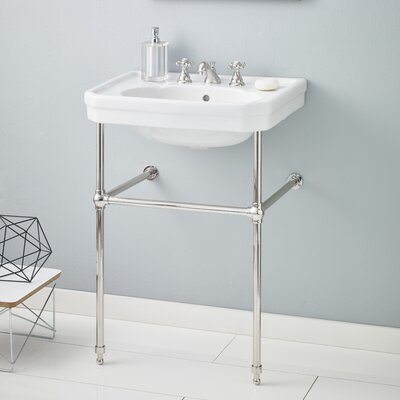 Mayfair Metal 25 Console Bathroom Sink with Overflow Finish: Polished Nickel
