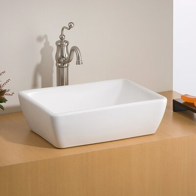 Riviera Vitreous China Rectangular Vessel Bathroom Sink