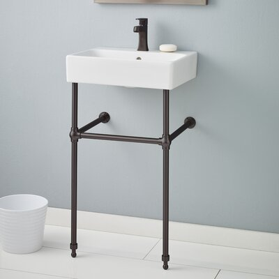 Nuo 19.75 Console Bathroom Sink with Overflow Finish: Antique Bronze