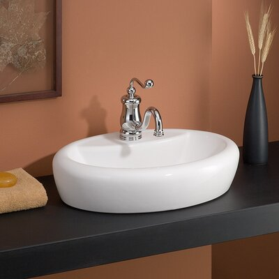 Milano Oval Vessel Bathroom Sink