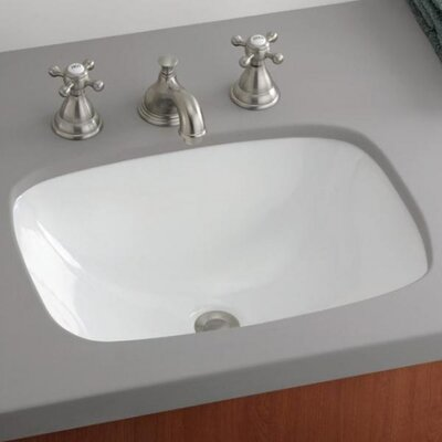 Ibiza Vitreous China Rectangular Undermount Bathroom Sink