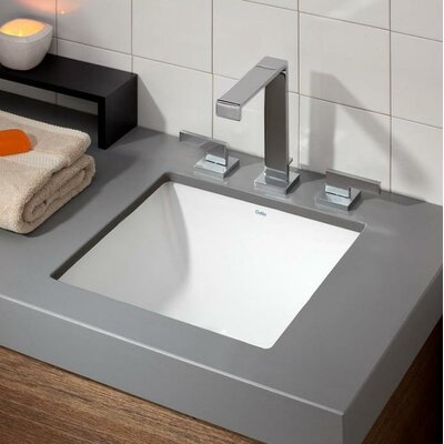 Square Undermount Bathroom Sink