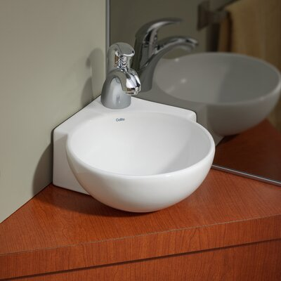 Vitreous China 12 Corner Bathroom Sink