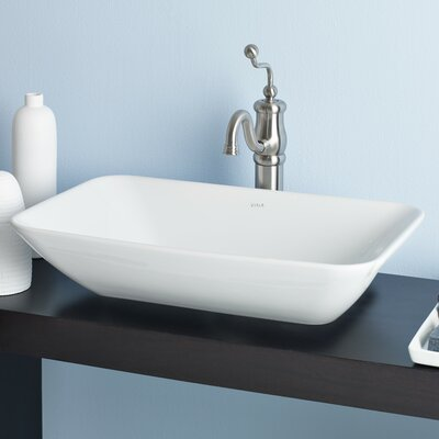 Element Ceramic Rectangular Vessel Bathroom Sink