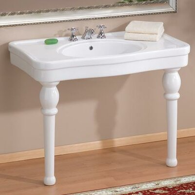 Grand Astoria Ceramic 43 Console Bathroom Sink with Overflow