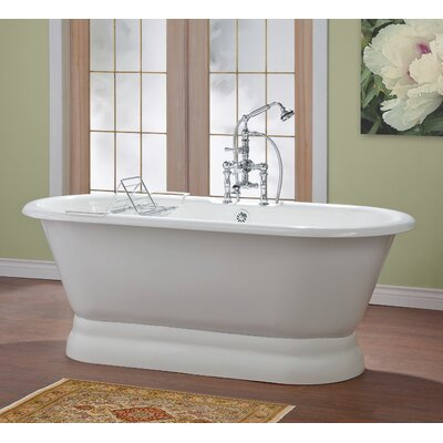 Carlton 70 x 32 Soaking Bathtub with 7 Drilling Color: White Interior with White Exterior