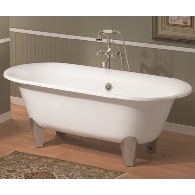 Somerset 70 x 31 Soaking Bathtub Feet Finish: Polished Brass, Color: White Interior with White Exterior