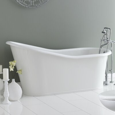 Dakota 68 x 30 Soaking Bathtub Color: White Interior with White Exterior