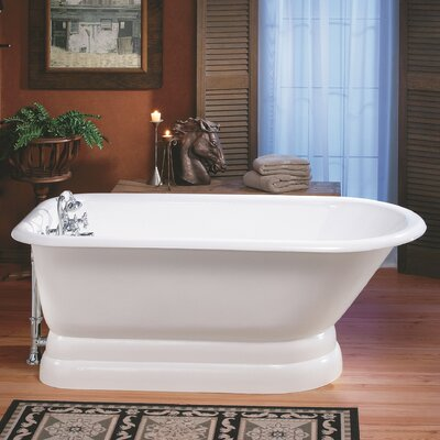 61 x 30 Soaking Bathtub Feet Finish: Cast Iron Pedestal Base, Color: White Interior with Custom Colour Exterior