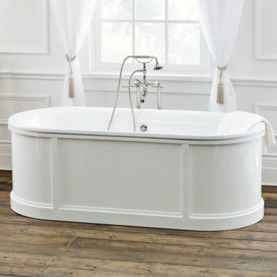 69.88 x 31.13 Soaking Bathtub Color: White Interior with White Exterior