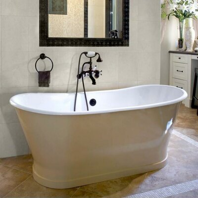 Balmoral 68 x 28 Soaking Bathtub Color: White Interior with Custom Colour Exterior