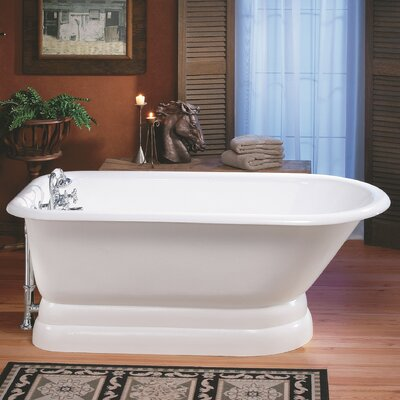 61 x 30 Soaking Bathtub with 3.38 Faucet Holes in Tub Wall Color: White Interior with White Exterior