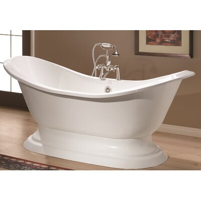 Regency 61 x 30 Soaking Bathtub Color: Biscuit Interior with Custom Exterior