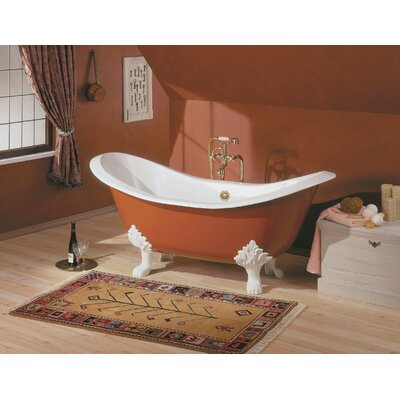 Regency 61 x 30 Soaking Bathtub Feet Finish: Chrome, Color: White Interior with Custom Exterior