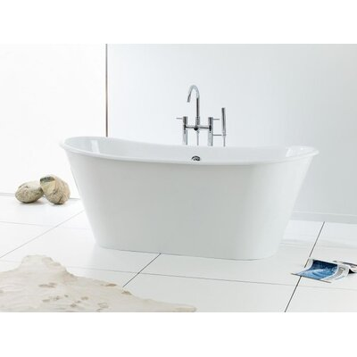 Iris 68 x 28 Soaking Bathtub Color: White Interior with White Exterior