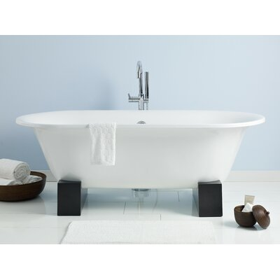 Somerset 70 x 31 Soaking Bathtub Feet Finish: Finished Oak, Finish: White Interior with White Exterior