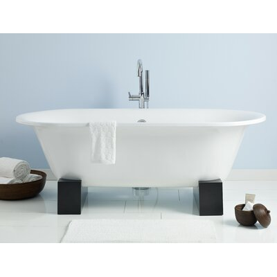 Somerset 70 x 31 Soaking Bathtub Color: White Interior with Custom Exterior, Base Finish: Natural Beech