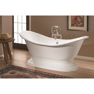 Regency 61 x 30 Soaking Bathtub Color: White Interior with Custom Exterior