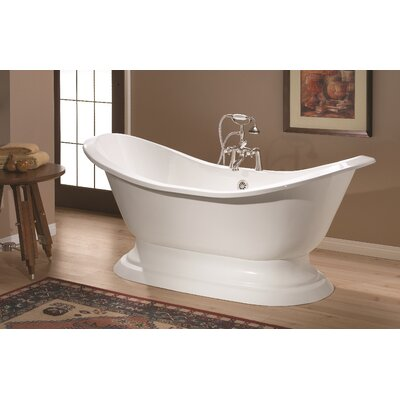 Regency 61 x 30 Soaking Bathtub Color: White Interior with White Exterior