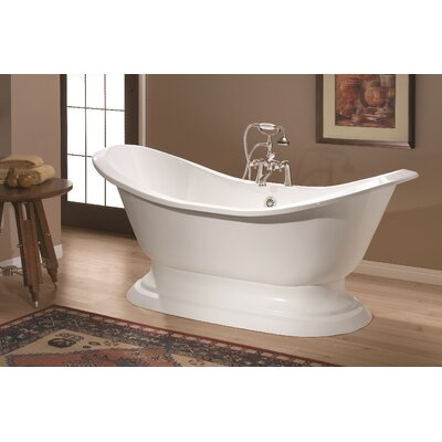 Regency 72 x 31 Soaking Bathtub Color: White Interior with Custom Exterior