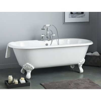 Regal 68 x 31 Soaking Bathtub Color: White Interior with White Exterior, Feet Finish: Polished Brass