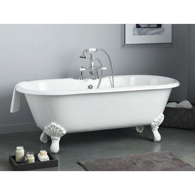 Regal 61 x 31 Soaking Bathtub Feet Finish: Polished Nickel, Color: White Interior with Custom Exterior
