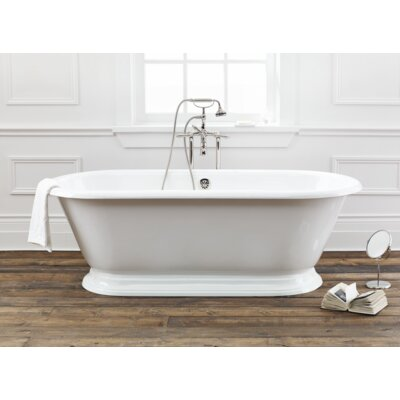 Sandringham 70 x 31 Soaking Bathtub Color: White Interior with White Exterior