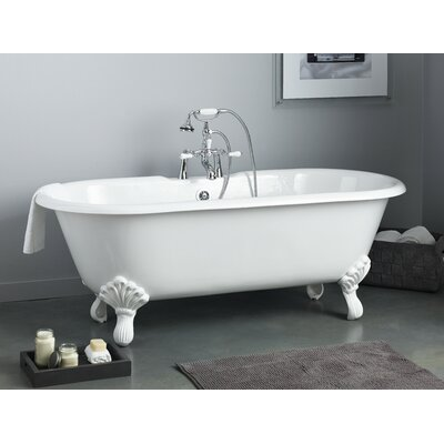 Regal 68 x 31 Soaking Bathtub Color: White Interior with Custom Exterior, Feet Finish: Polished Brass