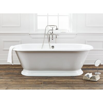 Sandringham 70 x 31 Soaking Bathtub Color: White Interior with Custom Exterior