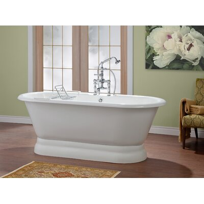 Carlton 70 x 32 Soaking Bathtub Color: White Interior with Custom Exterior