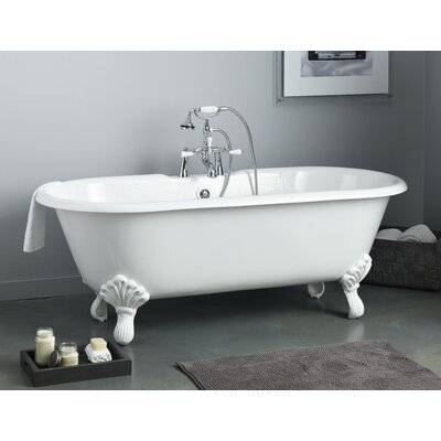 Regal 61 x 31 Soaking Bathtub Color: White Interior with White Exterior, Feet Finish: Chrome