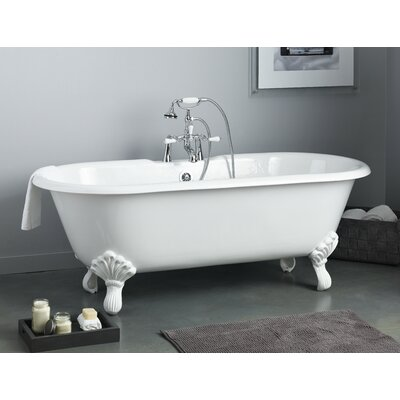 Regal 61 x 31 Soaking Bathtub Feet Finish: Brushed Nickel, Color: White Interior with Custom Exterior